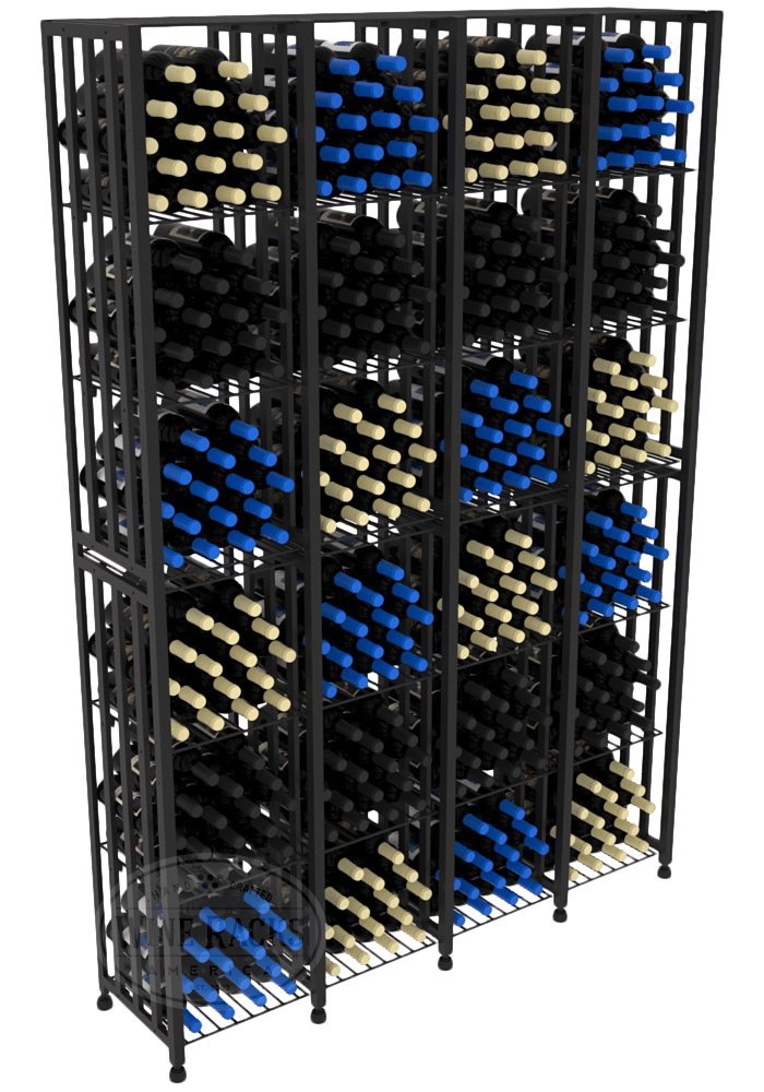 VintageView Case & Crate Metal Wine Rack - Full Height - Capacity 384 Bottles