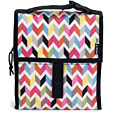 PackIt 10'' inch 10 h hour Freezable Foldable Reusable Multipal Uses Lunch Bag with Adjustable Strap - Premium (Ziggy Yellow)