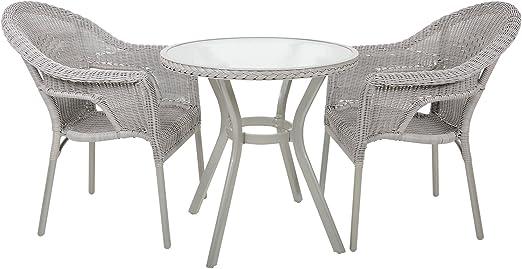 Juego de mesa y sillas de mimbre Havana para jardín, patio y jardín, 2 plazas: Amazon.es: Jardín