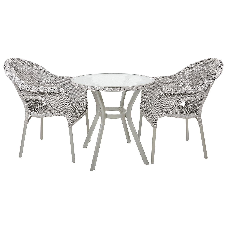 azuma havana rattan wicker bistro 2 seat garden patio furniture