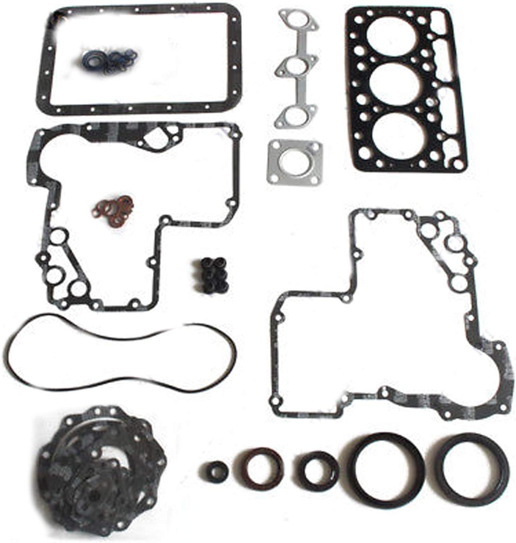 SINOCMP Excavator Parts for Kubota B5200D B5200E B7100 B1702DT Tractor D750 D750-B Engine Gasket Kit 3 Month Warranty
