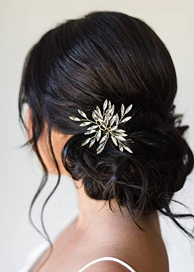 Amazon Com Kercisbeauty Handmade Wedding Leaf Leaves Crystal Hair