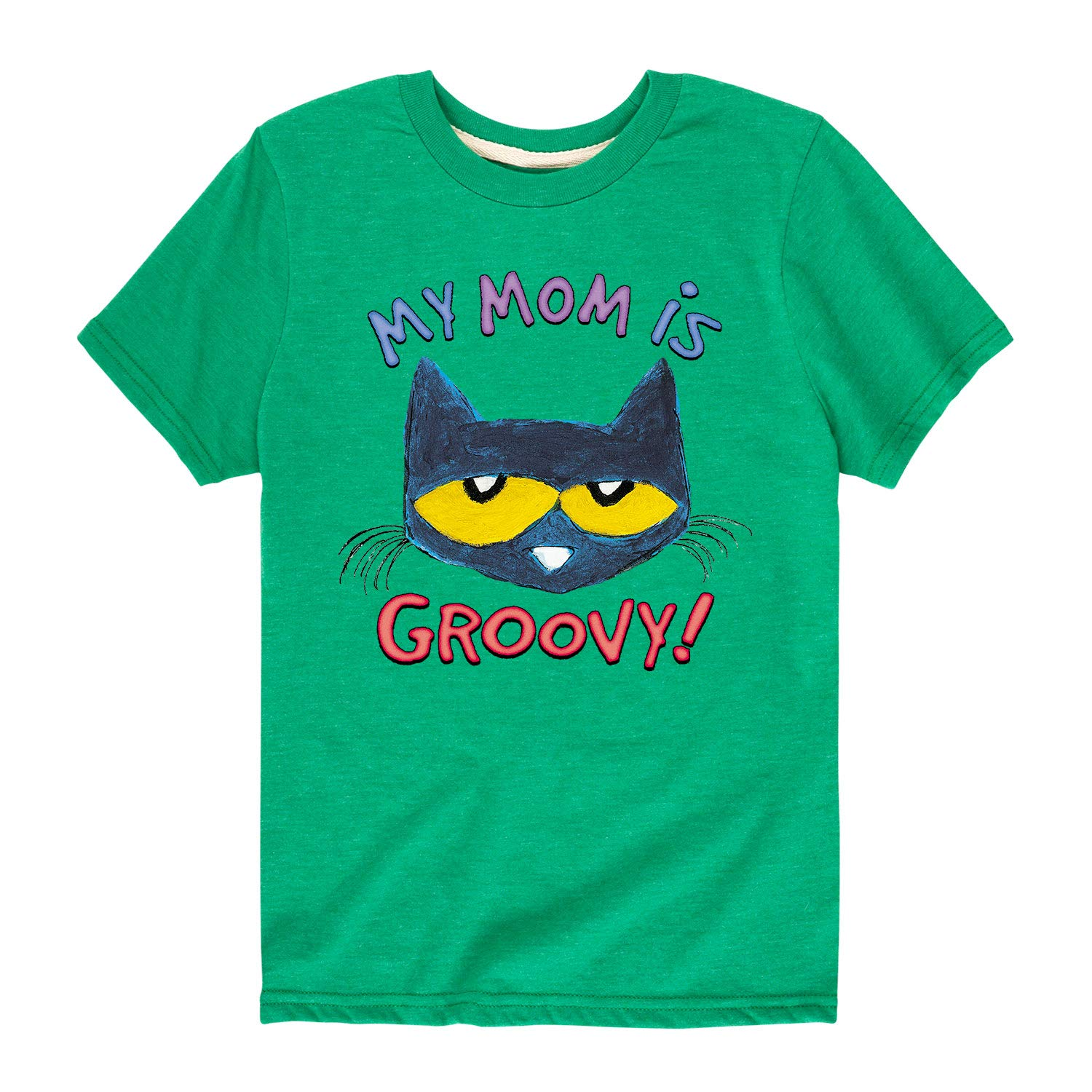 Toddler Short Sleeve Tee Pete the Cat My Mom is Groovy