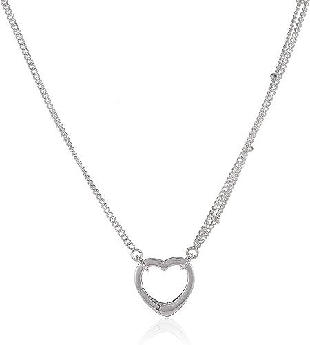 Amazon Com Pandora Open Heart Pendant Silver Necklace 39720470 Jewelry