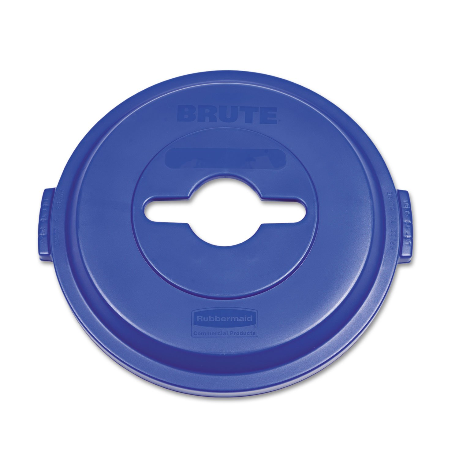 Rubbermaid 1788380 Single Stream Recycling Top for Brute 32gal Containers, Blue by Rubbermaid Commercial (Image #1)