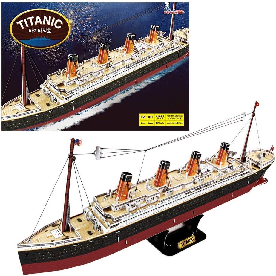 JOYTOM Titanic Ship Model Building Block Set 3D Puzzle Sets DIY Educational Toys Ideal Gift for Kids and Adults Bricks Toy-with 1860Pcs Micro Mini Blocks