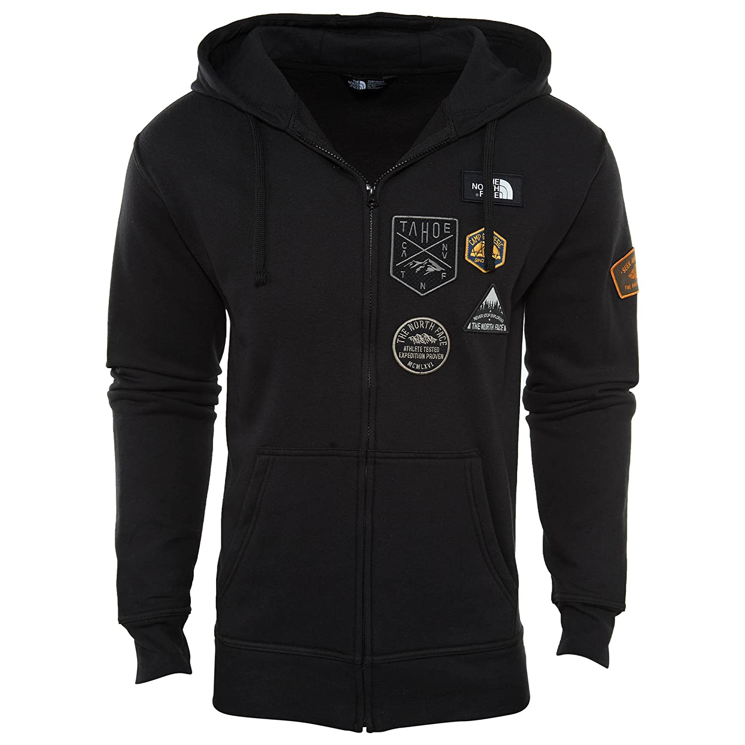3acaf5991 The North Face Mens Patches Hoodie Sweatshirt Tnfblack Xl: Amazon.ca ...