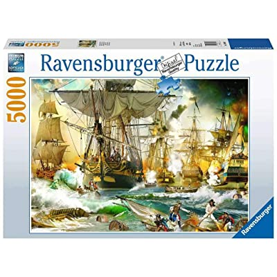 Ravensburger 13969 Battle on The High Seas - 5000 Piece Puzzle for Adults, Every Piece is Unique, Softclick Technology Means Pieces Fit Together Perfectly: Toys & Games