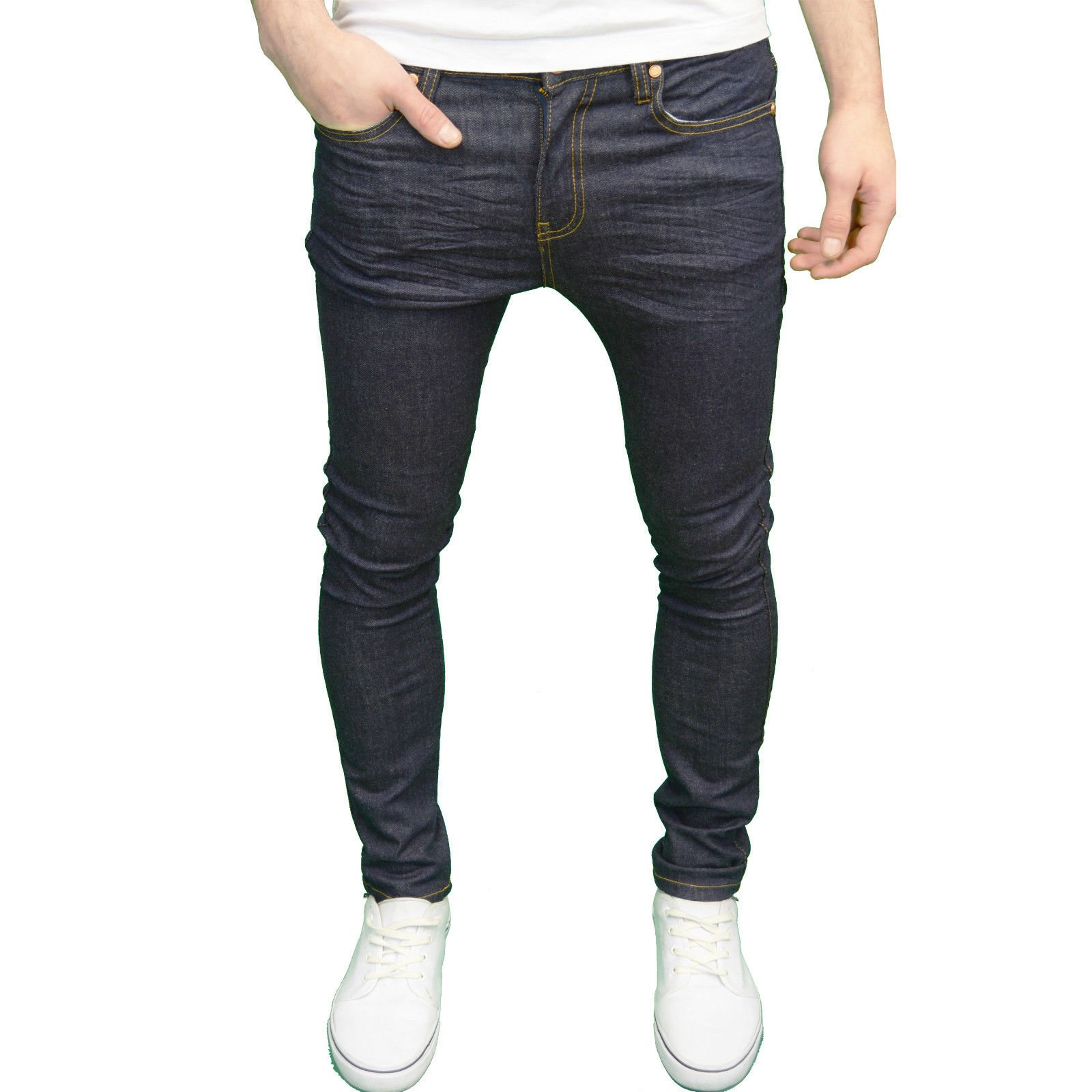 526Jeanswear Mens Designer Branded Skinny Fit Jeans  Available in 4 Colours Raw 30W   32L