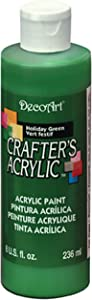 DecoArt DCA04-9 Crafters Acrylic, 8-Ounce, Holiday Green