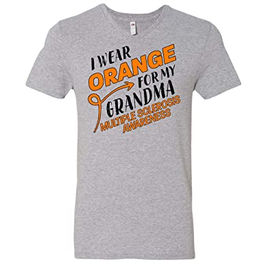 inktastic I Wear Orange for My Granny Multiple Sclerosis Awareness Baby T-Shirt