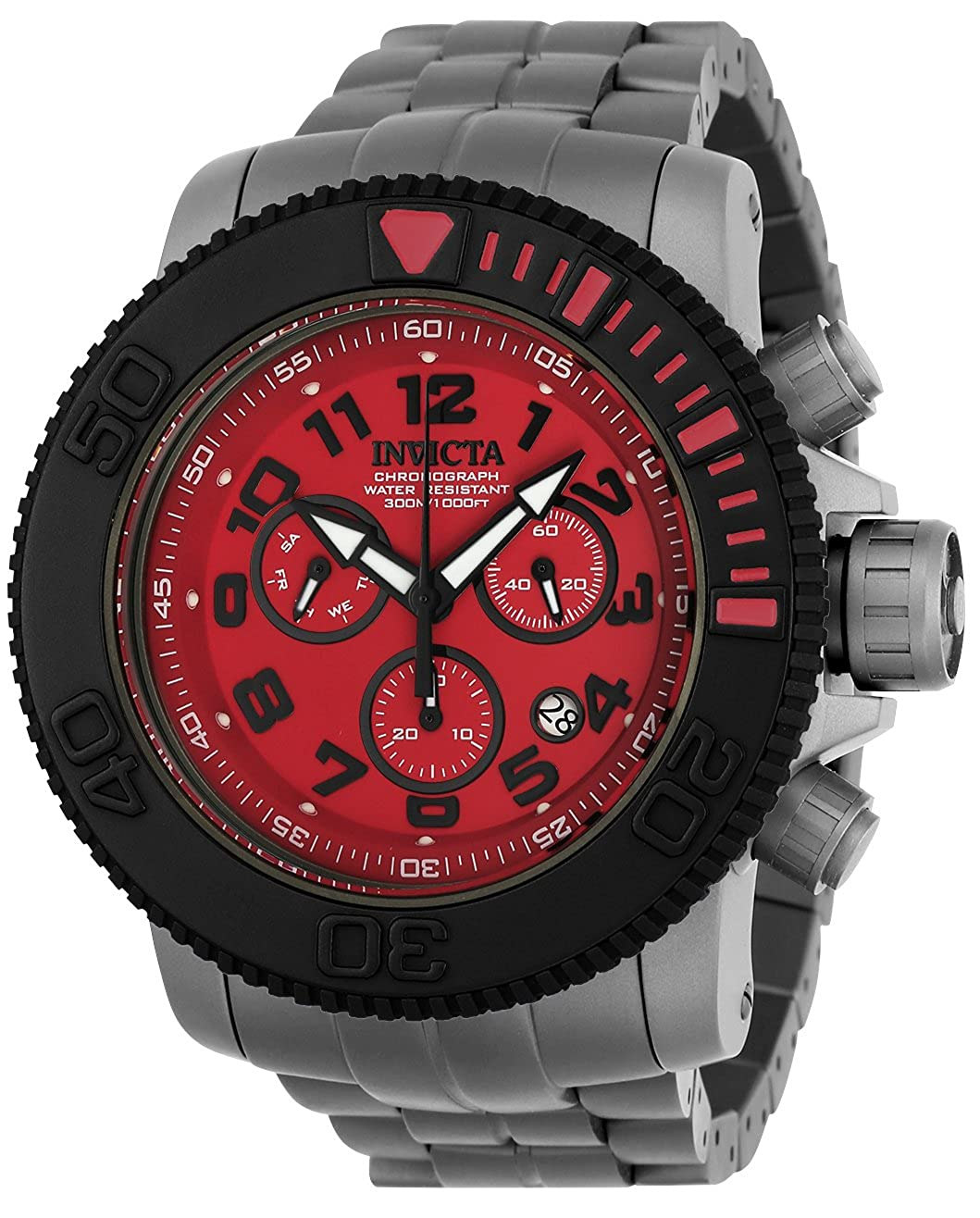 Invicta Men s Sea Hunter Quartz Watch with Titanium Strap, Grey, 29 Model 23144
