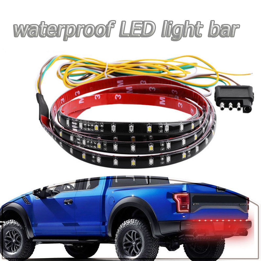 Danti Waterproof 60 Red White Tailgate Led Strip Light 84 Chevy Pickup Tail Wiring Diagram Reverse Bar Truck Brake Turn Signal For Chevrolet Avalanche Silverado