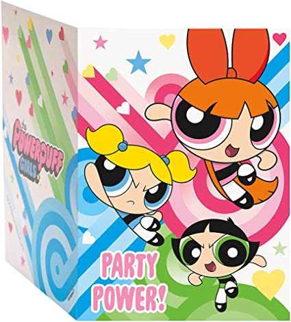 6 Packs Powerpuff Girls Party Invitations Birthday 8 Per Pack 48 Total