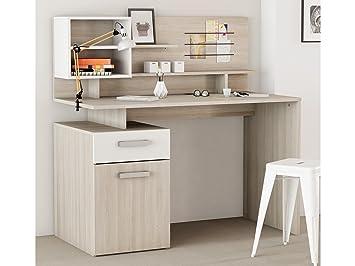 Kinderschreibtisch weiß mit aufsatz  Schreibtisch mit Aufsatz Computertisch Bürotisch Arbeitstisch ...