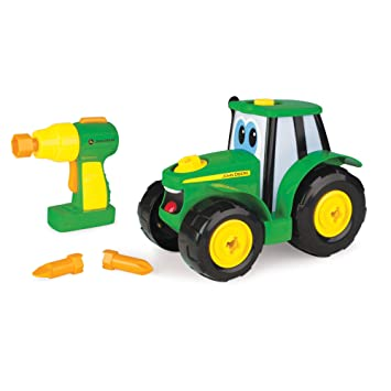 e710f94eb2b John Deere Build A Johnny Tractor | 16 Pieces Building Farm Toy Car |  Tractor Toy