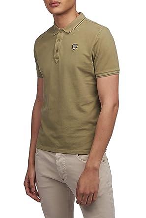 Blauer 19SBLUT02174.004865 644 Verde POLVEROSO Polo Uomo Polo ...