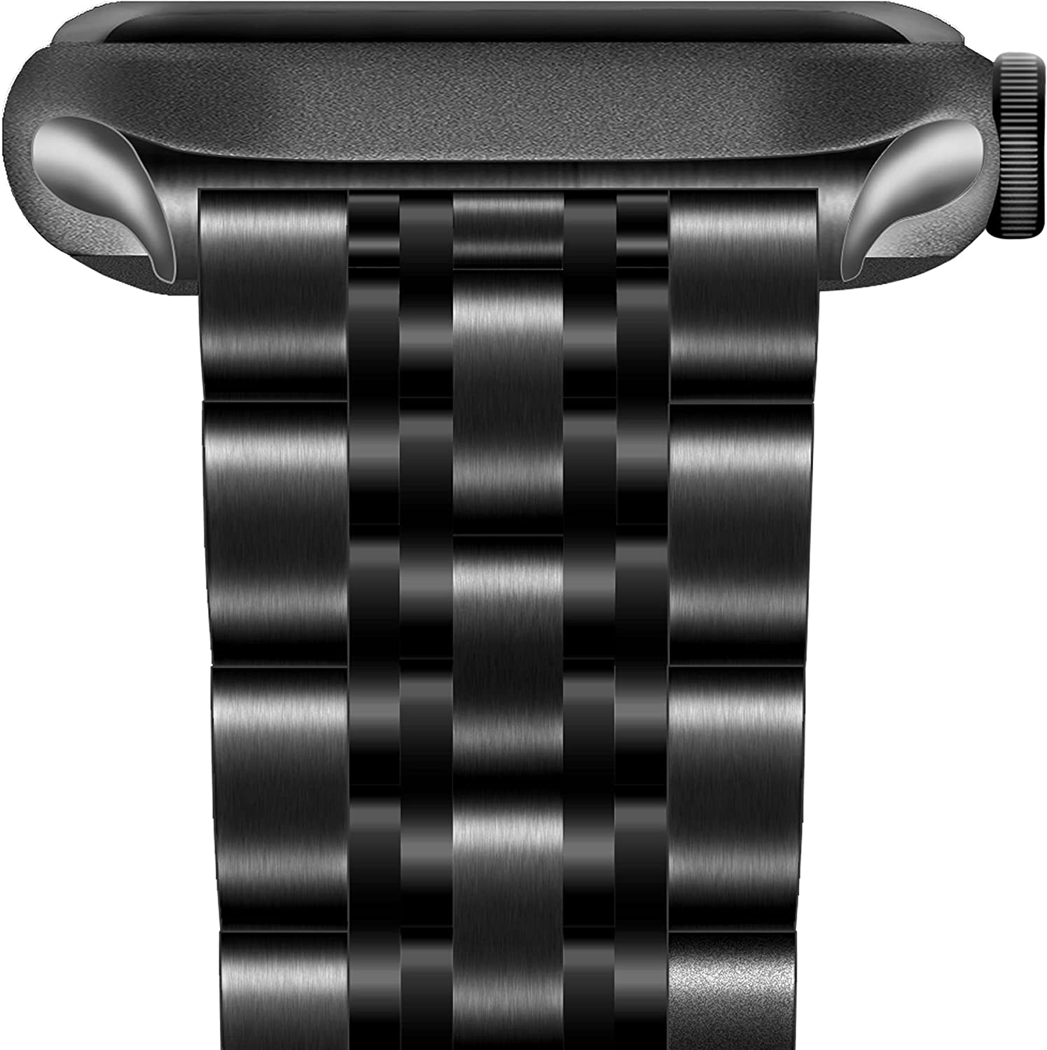 ENFAN Compatible for Apple Watch Band 44mm 42mm,Solid Stainless Steel Mental Replacement Strap for iWatch SE Series 6/5/4/3/2/1 Men and Women(Black)