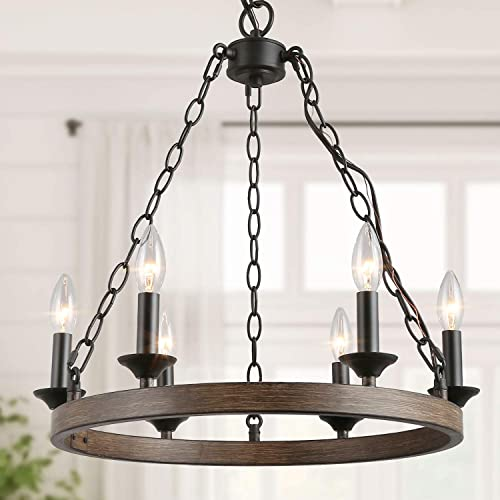 Farmhouse Black Chandelier