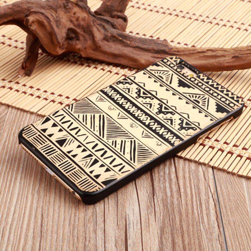 LINFA BLACK iPhone 5SSE 6 6S 7 7Pカバー木製ケース(iPhone 7、ボヘミア)   B0716V4VCC