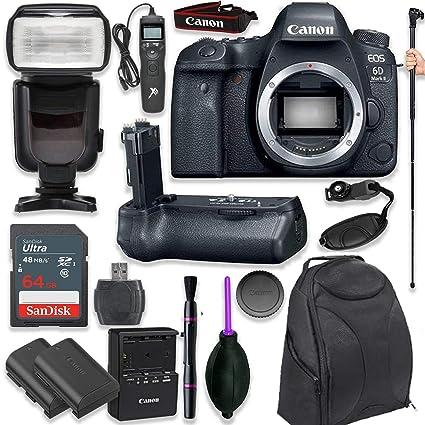 Amazon.com: Canon EOS 6d Mark II – cuerpo de la cámara SLR ...
