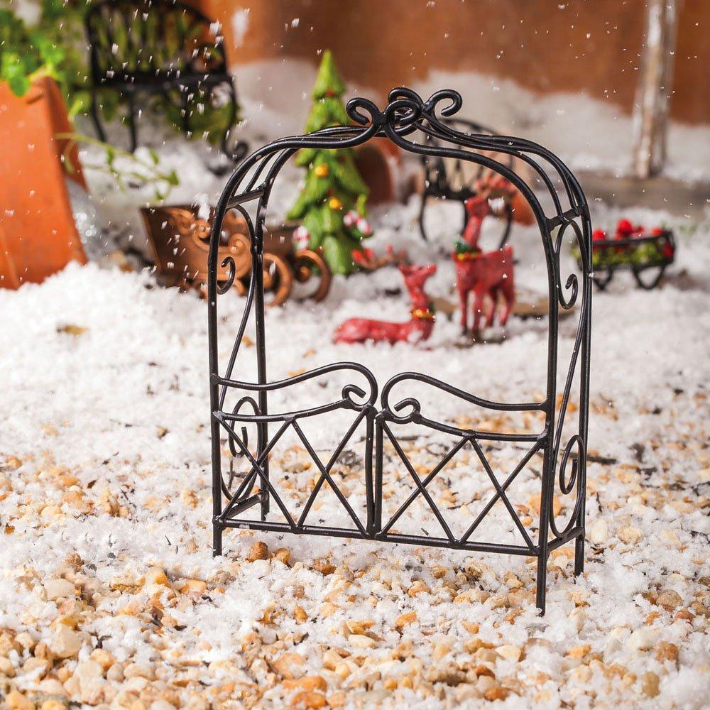 Mini Garden Arbor Black with Cross Hatch