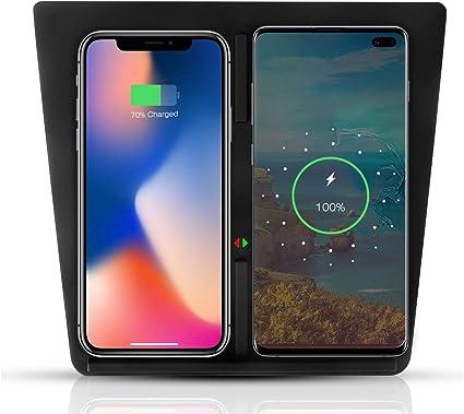 Tesla Model 3 Qi Wireless Phone Charging Dock Center Console Wireless Charger With Usb Splitter For Tesla Model 3 Gen 2 Black