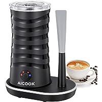 Milchaufschäumer, Aicook 4-In-1 Elektrisch Automatischer Milchschäumer für Heißen und Kalten Milchschaum mit Doppelwand, Antihaft-Innenausstattung, mit Silikonschaber, Cappuccino, Latte, Kaffee