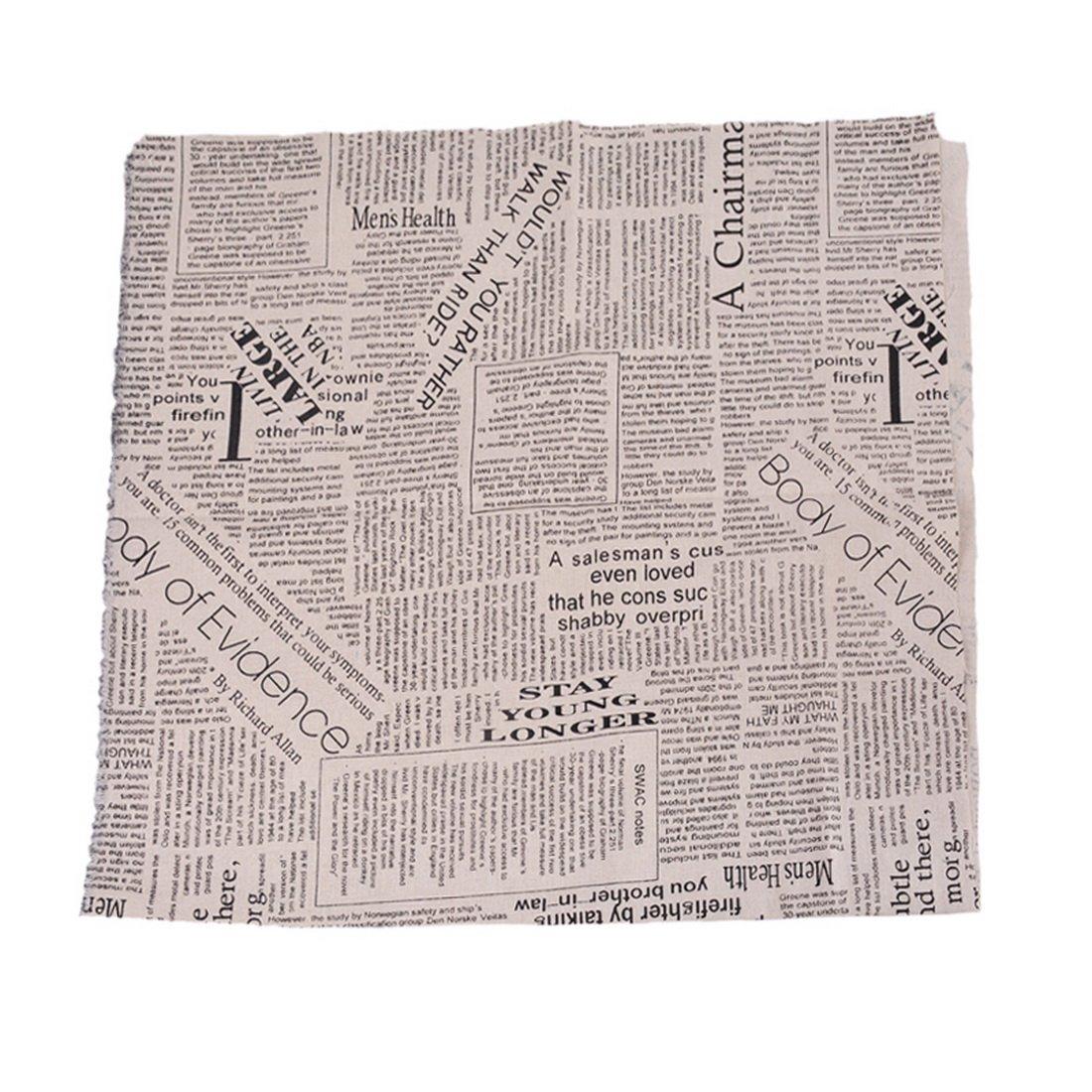 Tissu en Lin Couleur Foncé Bricolage Patchwork Imprimé Style Vintage Coupon DIY Quilting Papillon Textile Artisanat Bundle Couture Scrapbooking 97x50cm Cysincos