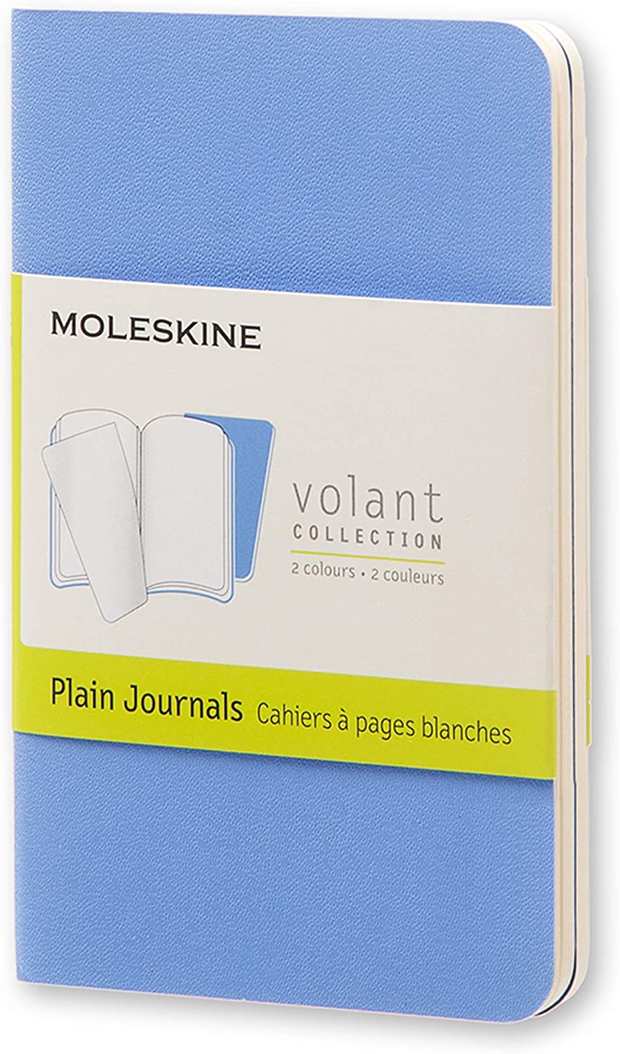 Moleskine Quaderno Cahier Journal Volant Collection, Pagina Bianca, Celeste