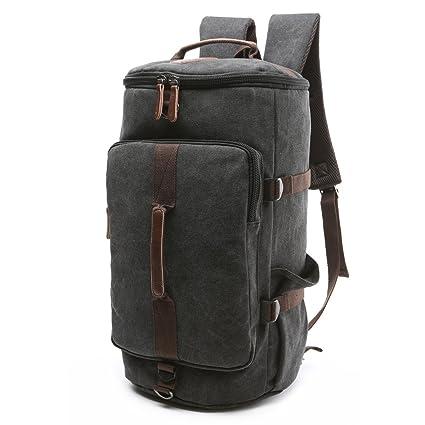 feaeb57aad4d0 BAOSHA HB-26 3-Ways Vintage Canvas Men Holdall Weekend Travel Duffel Bag  Backpack
