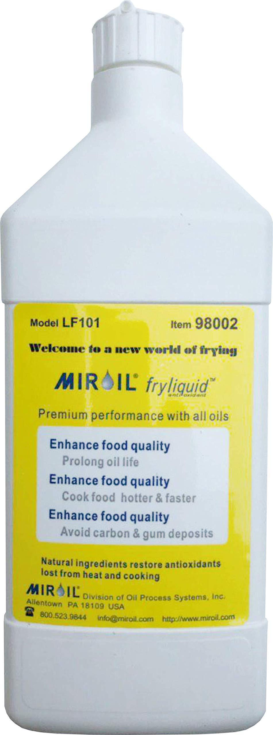 Miroil FryLiquid LF101   1 x 1 Litre Bottle   Antioxidant for Fry Oil   Prevent Oil Breakdown   Fry Healthier   Vitamin Therapy for Deep Fryer Oil   Item 98002   Reduce Oil Costs   1 x 1 litre (1)