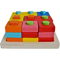 Trinkets & More - Premium Shape Sorter Wooden Toys | Brain Teaser Puzzle | Sorting Stacking Early Educational Montessori Kids 3 Years +