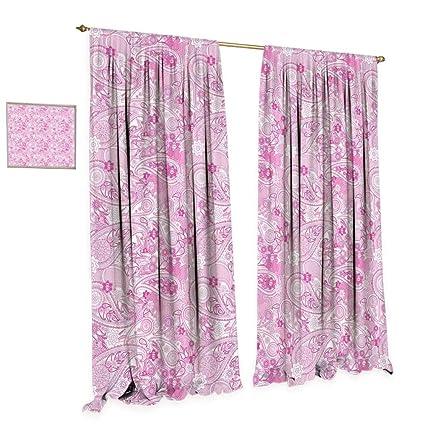 Amazoncom Cobedecor Paisley Window Curtain Drape Asian