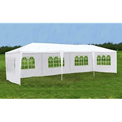 Cypress Shop Outdoor Gazebo Canopy Tent 10x30 feet Heavy Duty Pavilion Marquee Sun Shade Shelter Protector with Sidewalls for Yard Garden Patio Wedding Party Cater Events (5 Sidewalls) : Garden & Outdoor