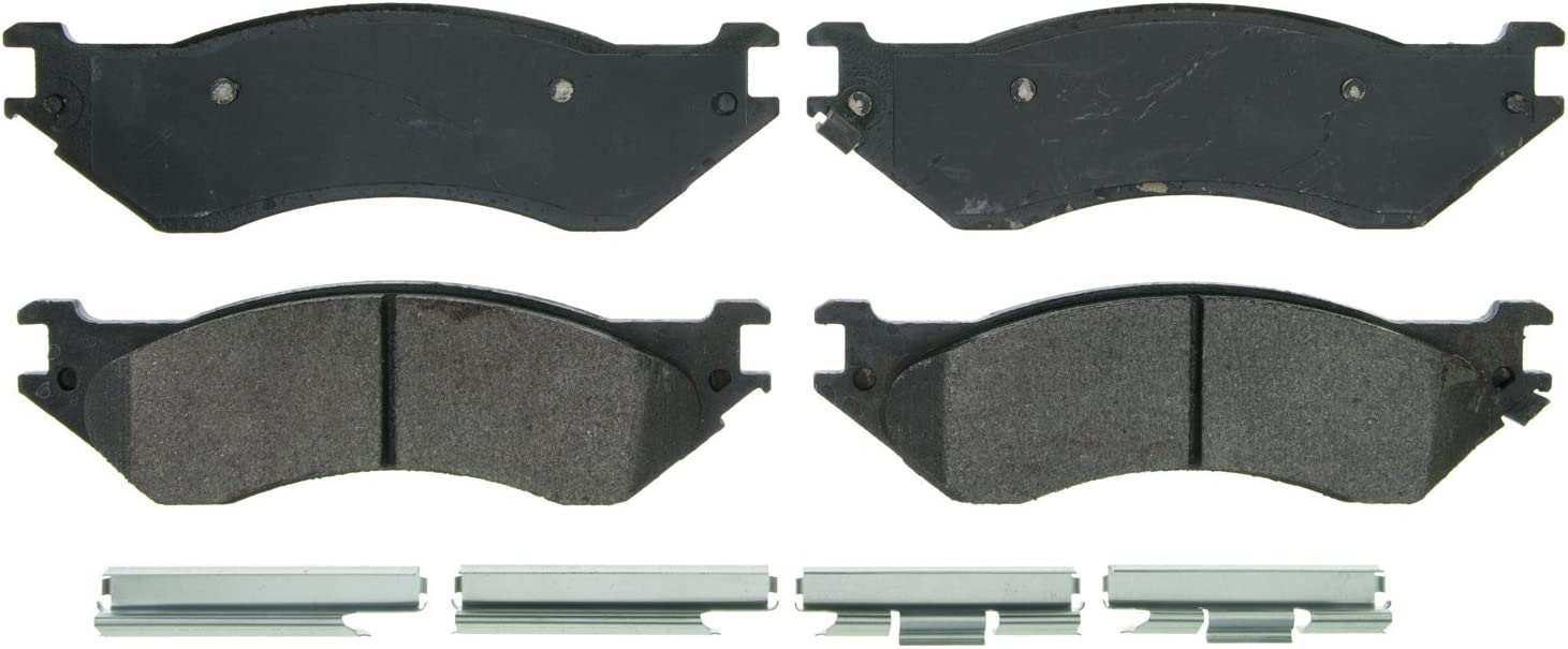 Wagner QuickStop ZX702 Semi-Met Disc Pad Set Includes Pad Installation Hardware Front