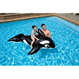 "Intex Whale Inflatable Pool Ride-On, 76"" X 47"", for Ages 3+"