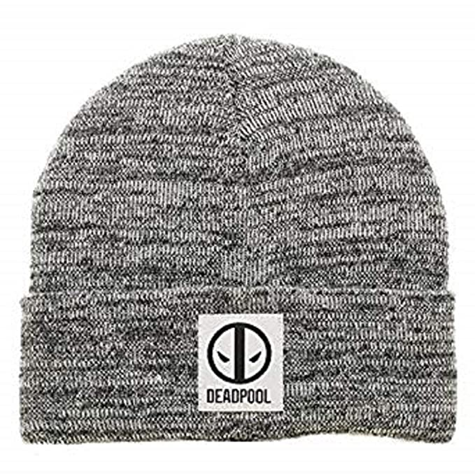 e07cd5cee63 Image Unavailable. Image not available for. Color  Marvel Comics Deadpool  Logo Marled Cuff Beanie