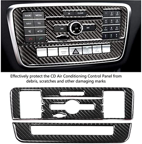 Cd Bedienfeldabdeckung Für Klimaanlage Mittelkonsole Klimaanlage Bedienfeldabdeckung Trim 2 Tlg Cd Bedienfeldrahmen Für Klasse B Klasse Cla Gla Auto