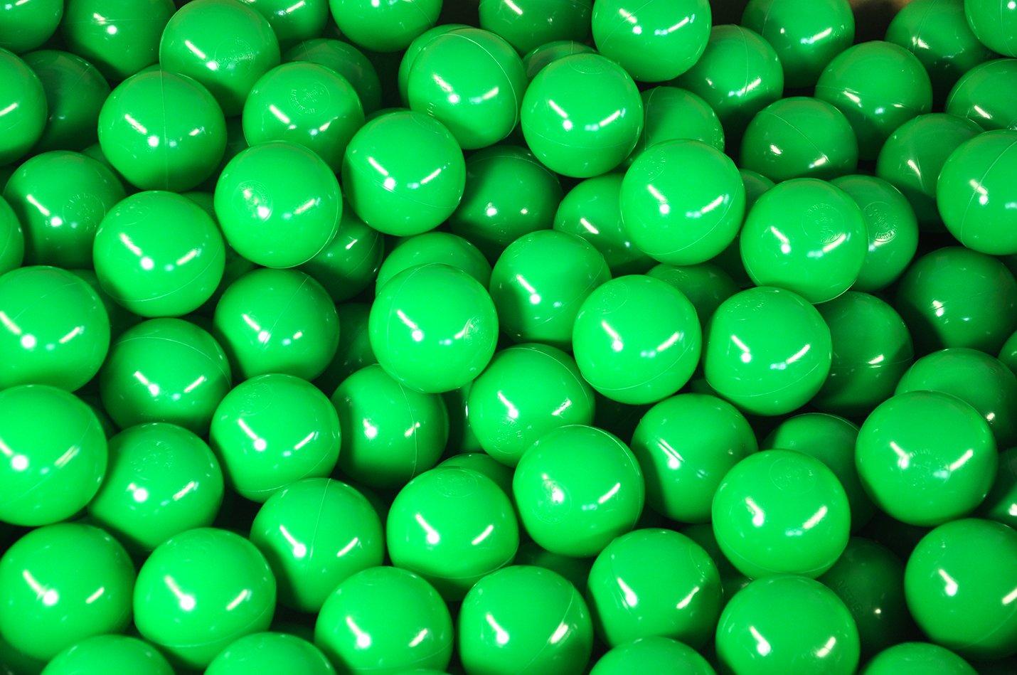 BälleBad Bälle - Grün - 500 Stück - CE-Kennzeichnung - 75mm