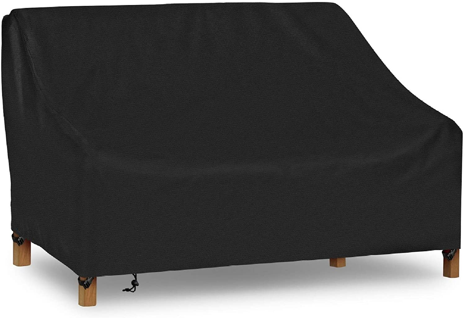 "iCOVER Patio Sofa Cover, Waterproof 2-Seater Deep Lounge Loveseat Cover, Lightweight Easy On/Off, Buckles Drawstring Design,90""x34""x32"" (LxDxH)"