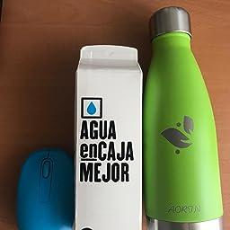 AORIN de Doble Pared con Aislamiento de Botella de Agua de Acero ...