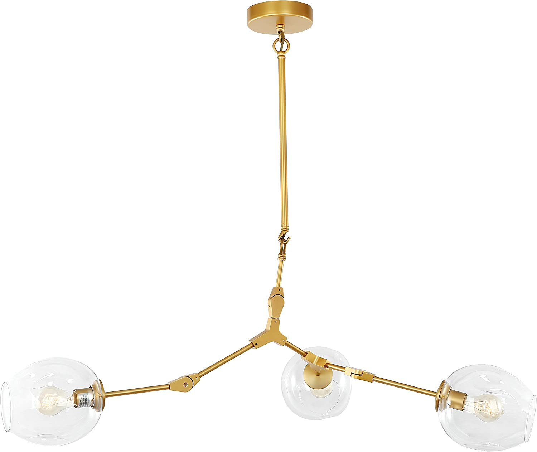 Light Society Thurston 3 Light Brass Chandelier LS C125