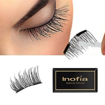 0de4faf3f42 Magnetic Eyelashes, Inofia magnetic false eyelashes -Half Cover magnet  eyelashes, False Eyelashes 1.5