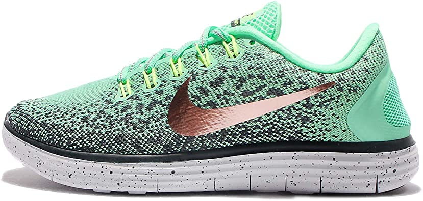 Nike - WMNS Free Rn Distance Shield Green - Sneakers Mujer