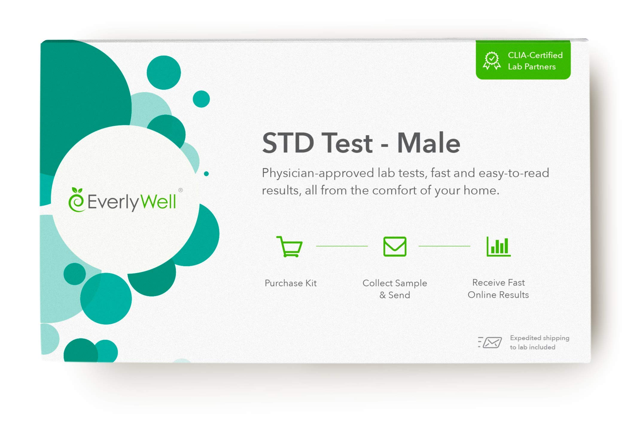 EverlyWell - Male at-Home STD Test - Discreetly Test for 7 Common STDs (Not Available in RI, NJ, NY, and MD) by Everly Well