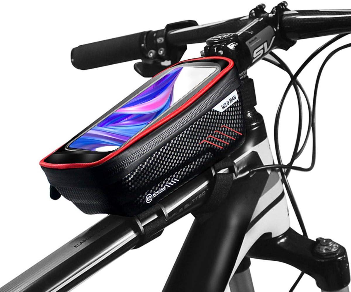 Zeroall Bolsa Cuadro Bicicleta Impermeable Bolsa de Tubo Superior ...
