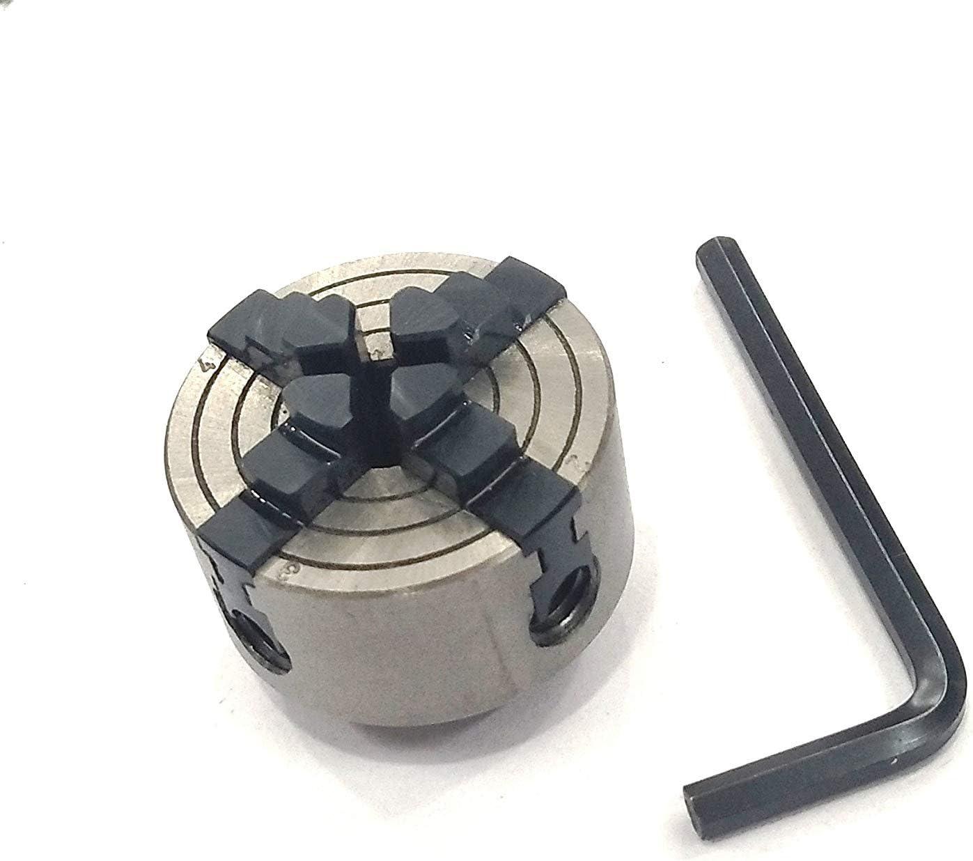 High Precision 65 mm 4 Jaw Chuck M14 x Unimat Thread for Mini Lathes