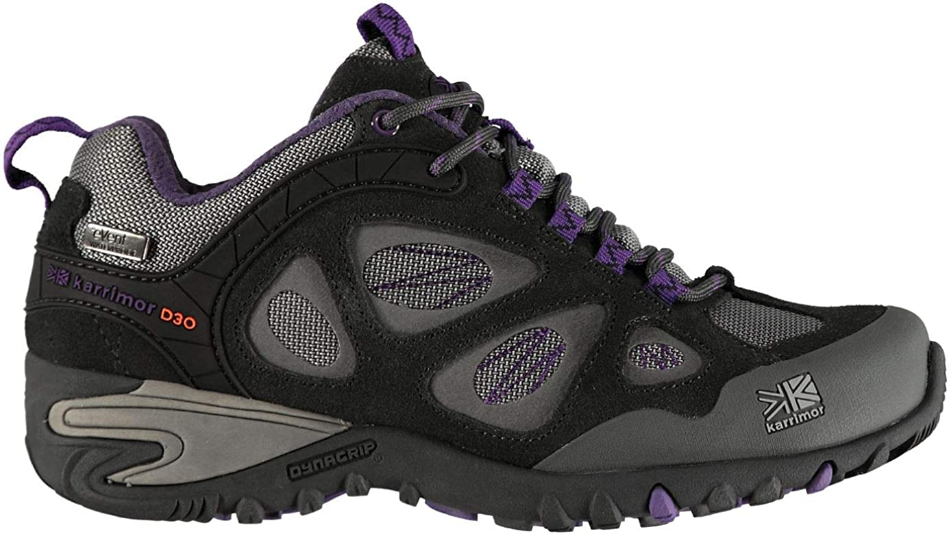 Karrimor Mujer Ridge Event Zapatillas Impermeable Senderismo Carbón/Morado EU 38 (UK 5): Amazon.es: Zapatos y complementos