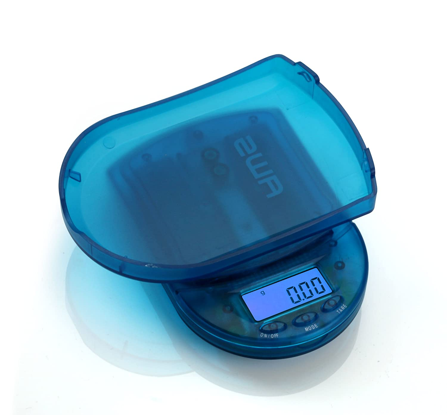 American Weigh Scales BCM-100-CB Pocket Size Digital Scale 100gm Capacity Clear Blue AWS Home